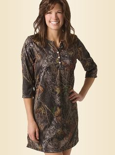 Womens Clothing CAMO NIGHT SHIRT Hunting Gear Clothes Camouflage