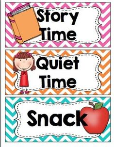 I've included 15 Daily Schedule Cards with PICTURES in a CHEVRON background. I'll be using these cards in my Kindergarten classroom on my magnetic chalkboard or a pocket chart. Just print, laminate, and add magnets to the back of your daily schedule cards! ALSO, I added 6 Editable BLANK cards (so you can add text)!!