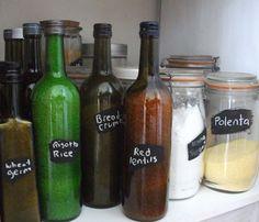 Oil bottles re used