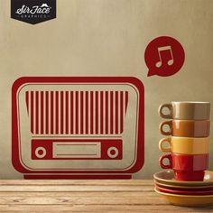 Retro Radio Wall Decal - Vintage Wall Decal - Wall Graphics - Vinyl Wall Sticker