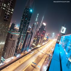 View of Sheikh Zayed Road in Downtown Dubai.