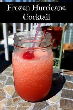 frozen alcoholic drink recipes, frozen hurrican, easy rum drinks, hurrican cocktail, drink recipes rum, easy cocktails, alcoholic frozen drinks, hurricane frozen drink, orange juice