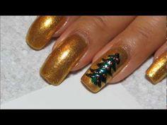 ▶ Christmas Tree Nail Art Tutorial - YouTube