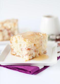 Rhubarb Streusel Cake. I'm in love with all things rhubarb.