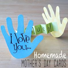 Mother's Day card-great and easy for most kids to do younger kids needed help with tracing and cutting out their hands)