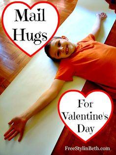Mail Hugs: A 15 Minute Valentine Craft