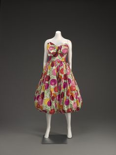 """Norman Norell (American, 1900-1972), """"Evening dress,"""" late 1950s; Indianapolis Museum of Art, Gift of Jocelyn S. Schwartzman and Stanley E. Weaver in memory of Norman Norell, 1985.644; © Norman Norell"""