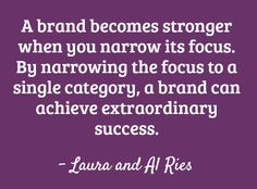 The Law of Contraction for brand strategy