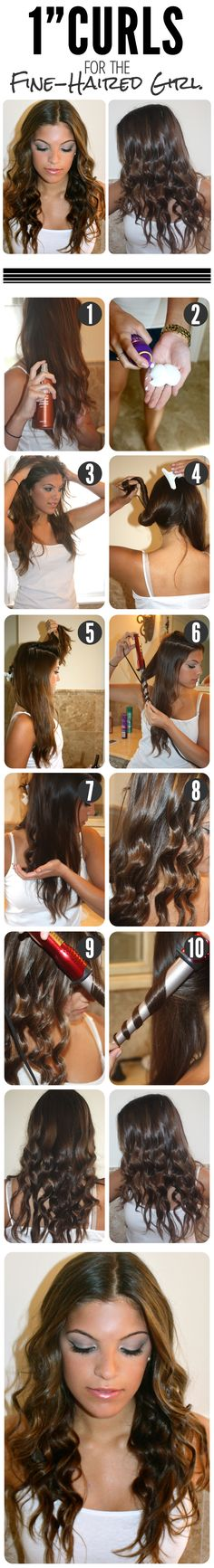 """Quick 1"""" Curls Tutorial For The Fine Haired Girl"""