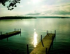 Water + dock.