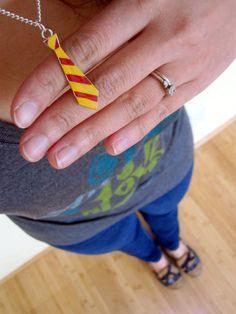 Harry Potter Gryffindor tie necklace