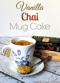 Looking for the perfect way to warm up on these freezing days? Try my Vanilla Chai Mug Cake! It will warm you right up and it the perfect quick sweet treat.  #AmericasTea, #shop, #cbias