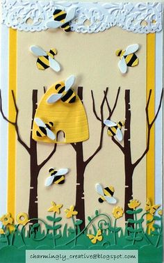 Copy of Won't you bee mine by Charminglycreative, via Flickr #memoryBox  http://stampingwithbibiana.blogspot.com/