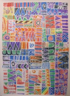 shine brite zamorano: group art marker printing project inspired by Lu Summers quilt design.