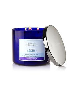 Bath Time Luxuries: Lavender Vanilla Candle from Bath and Body Works