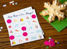 holiday, bingo cards, activities for kids, eve idea, eve activ, new years eve, year eve, eve bingo, parti