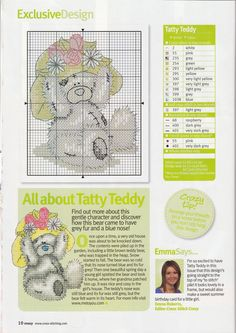 Image detail for -TATTY TEDDY CROSS STITCH PATTERNS | Browse Patterns