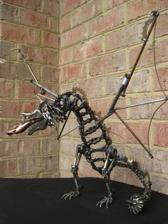 Dragon Recycled Metal Art Sculpture