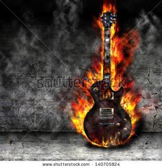 The burning guitar i