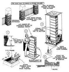 how to build a driveway pillar
