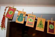 Family activities Christmas advent calendar