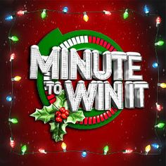 Minute to Win It Christmas games! Oh yeah, we're gettin wild and crazy this year!