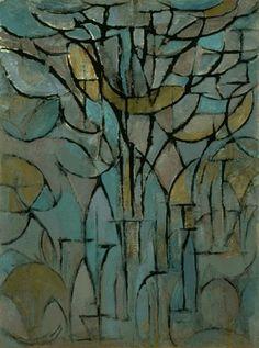 'Trees' (1912) - Piet Mondrian