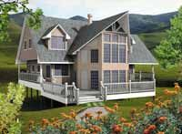 Home Plans HOMEPW25446 - 2,682 Square Feet, 6 Bedroom 3 Bathroom Cottage Home with