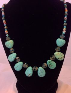 The Erin Turquoise design by JewelryByVoilaNaNa on Etsy, $75.00