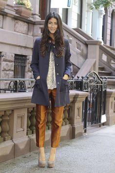 cropped pant + long jacket