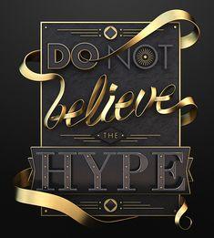 Typography / Hype on Behance