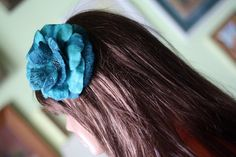 Emerald flower headband, emerald hedband, felted headband, flower headband, women headband, felted flower, emerald flower, flower decoration
