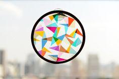 Geometric Kids Craft: DIY sun catcher