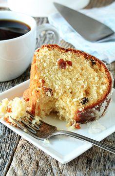 eggnog cake with rum glaze