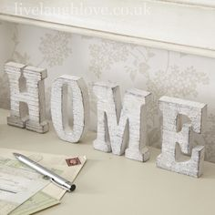 HOME-Rustic Freestanding Letters