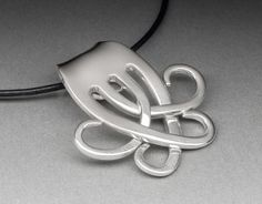 Fork and Spoon Jewelry: Celtic Fork Pendant