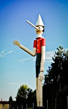 #Pinocchio Park in Collodi, #Italy 133 years. Born from Geppetto genius and Collodi's pen, he is the most famous puppet in the world. At Expo2015 he will have a special place (but maybe it's a lie). For now you can meet him here. www.pinocchio.it  #Expo2015 | Made of #Italians