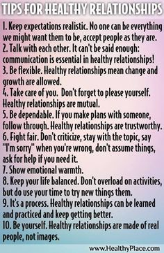Tips for Healthy Relationships