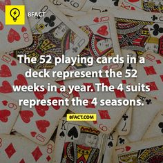 mind blown, nerd facts, funny facts, interesting things to know, friday fun, playing cards, random fun facts, fun fact quotes, random facts