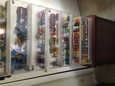 An old watch display case that I use for my hotwheels and matchbox cars