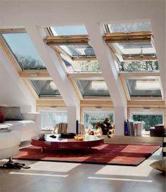 cool living room, living room windows, hous, sky light window