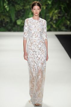 Naeem Khan | Spring 2014 Ready-to-Wear Collection | Style.com naeem khan, fashion, style, dress, runway, khan spring, white lace, spring 2014, 2014 readytowear