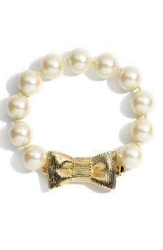 Bow and pearls bracelet | Kate Spade