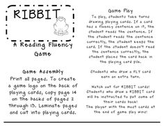 @Jessica Hollenbach Ribbit Fluency Game