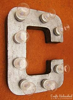 Make your own marquee letters - love :)