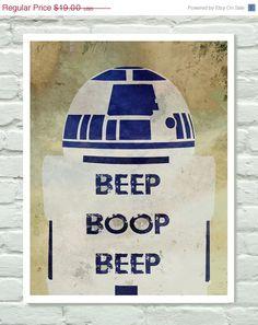 Star Wars R2D2, Minimalist Poster - love!