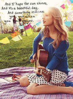 Last Kiss lyrics. Taylor Swift. Love this song.