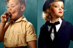 Unsettling Glamour Shots of Children Smoking