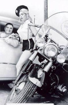 Jayne Mansfield. Vintage police shot with hollywood starlet Jayne Mansfield