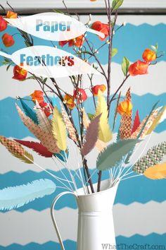 Cute paper flowers autumn arrangement from http://whatthecraft.com/!